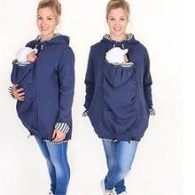 Многофункциональный теплый хлопок кенгуру пальто для беременных куртка Перевозчик верхняя одежда Рюкзак-переноска для беременных несущей толстовки
