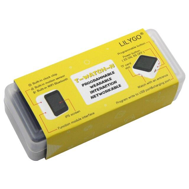 LILYGO®TTGO T Watch بدون شاشة تعمل باللمس الإصدار TTP223 زر اللمس للبرمجة يمكن ارتداؤها التفاعل البيئي ESP32