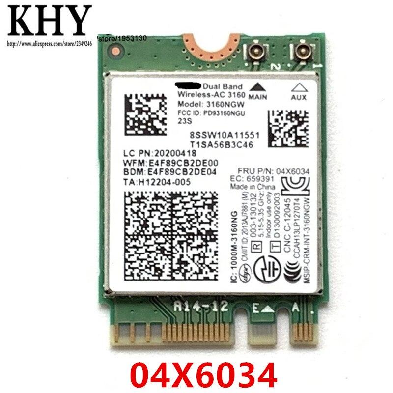 3160NGW AC sem fio para ThinkPad E450 E550 E550C E455 E555Lenovo G40 G50 G70 Z70 E31 E40 B40 B41 B50 B51 B70 Y40 Y50 E50 04X6034