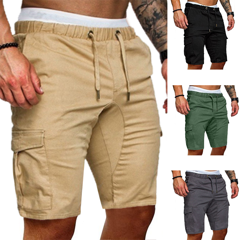 Men Cargo Shorts 2020 New Trend Male Casual Joggers Short Pants Knee Length Summer Men's Sportswear Bodybuilding Tactical Shorts