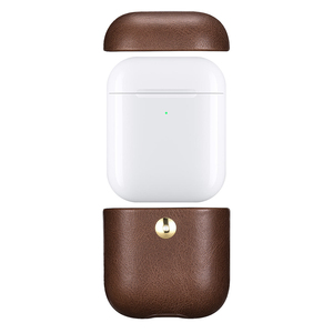 Image 3 - كريزي هورس حقيبة جلدية لأبل إيربودس بلوتوث اللاسلكية سماعة حافظة جلدية غطاء ل الهواء القرون 2 غطاء شحن صندوق حالات
