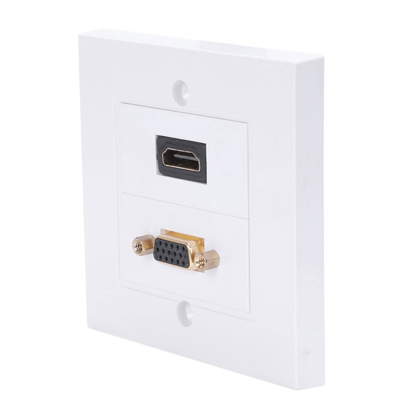 86 X 86Mm Wall Face Plate 15 Hole Vga Outlet + Hdmi With Extended Wire Socket Media Assorted Panel Faceplate