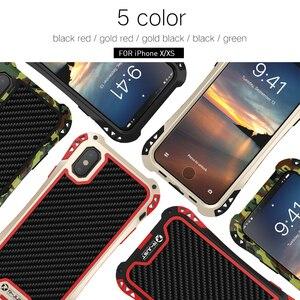 Image 5 - R JUST Shockproof Armor Telefoon Geval Voor Apple iphone X 8 7 6 Plus 5 5 s Luxe Waterdichte Harde Gevallen voor iphone XS XR XS Max Coque