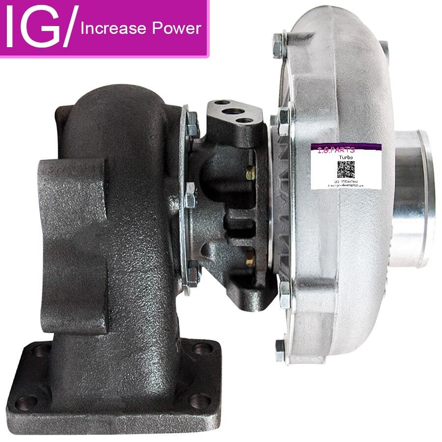 Nouveau turbocompresseur universel T3T4 T04E A/R. 57 Turbine 5 boulons bride refroidi à l'huile T3 T4 T04E. 57 A/R pour 1,6l à 2,3l 400HP