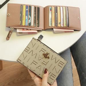 Image 1 - 2020小さな財布ショート革女性牛革マルチカードカードバッグビッグ超薄型カードバッグ名刺ホルダーカード