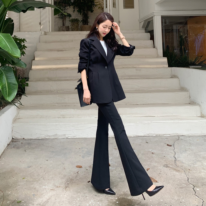 Fashion Solid Pant Slim Office Suit Women Comfortable High Quality Work Style Vintage Elegant Trend Cute Black Pant Suits