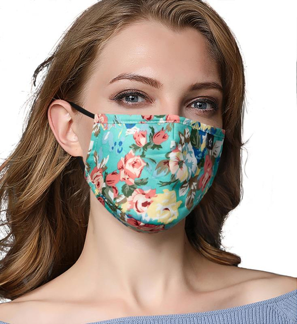 PM 2.5 Women Cotton Mouth Mask Anti Dust Mask Activated Carbon Filter Windproof Mouth-muffle bacteria proof Flu Face masks Care