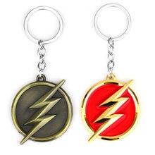 ZRM O Flash Flashman Relâmpago Corrente Chave Do Logotipo Chaveiro Moda Legal Das Mulheres Dos Homens Chave Do Filme Anel Jóias Acessório Do Carro