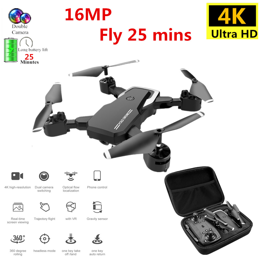 Profession Drone 4K with HD Camera WIFI 1080P Camera Follow Me Quadcopter FPV Professional Drone Long Battery Life Toy For Kids(China)
