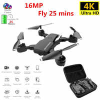 Zawód Drone 4K z kamera hd WIFI 1080P kamera Follow Me Quadcopter FPV profesjonalny dron długi na baterie życie zabawka dla dzieci