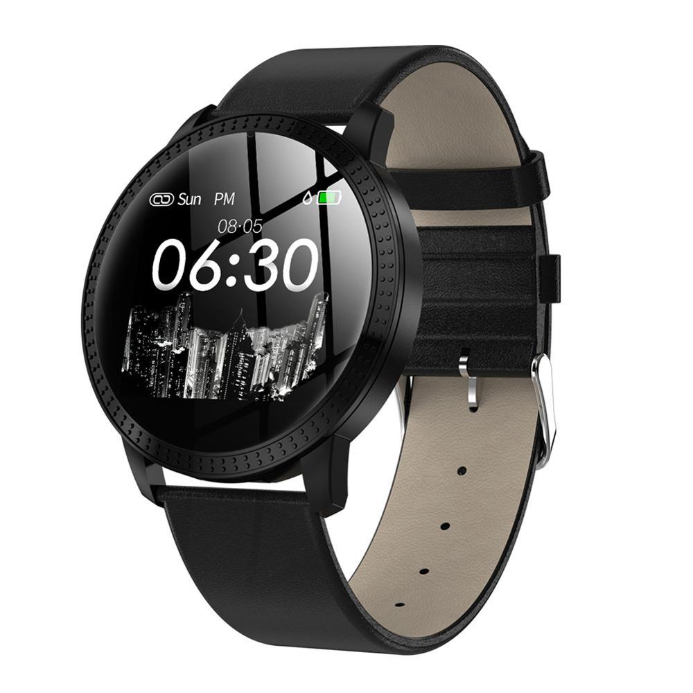 CF18 Смарт-часы-браслет, женские 1,22 дюймовые высококачественные металлические ювелирные изделия, браслет, спортивный шаг, датчик сердечного