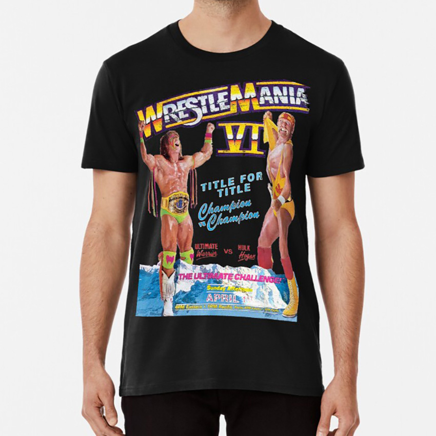 It's The Ultimate Challenge! T shirt wwf wrestling wrestler 90s 1990s retro old school vintage throwback(China)