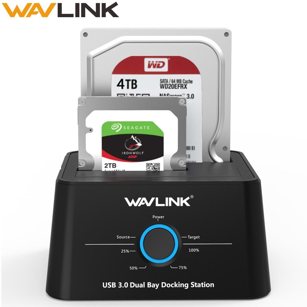 Wavlink HDD Docking Station Sata Hard Drive Enclosure SATA To USB 3.0 Adapter For 2.5 3.5 Inch SSD HDD Disk Case HD Box