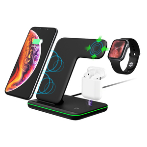 Image 2 - Robotcube Wireless Charger Phone Holder Stand Dock Station For Watch Series 5 4 3 2 phone 11 Pro Max XS MAX XR 8X Airpods