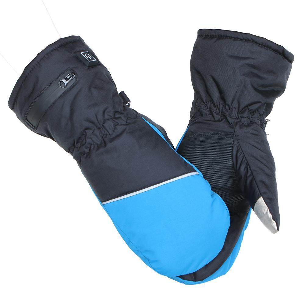 1 paire hiver USB chauffe-main cyclisme moto vélo Ski gants électrique thermique gants batterie Rechargeable gants chauffants
