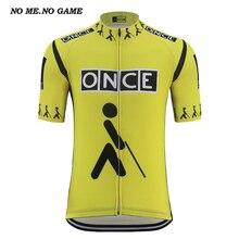 Retro einmal radfahren jersey männer gelb schwarz fahrrad shirts tour road bike wear kleidung Quick Dry Anti schweiß mtb zyklus tragen