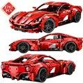 Технические создатель известного супер Скорость автомобиль строительные блоки мс красный гоночный автомобиль блоки, Детские кубики, разви...