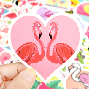 Image 4 - 50 PCS Flamingos Sticker Lovely Dream Cartoon Girl Animals Stickers for Mac DIY Notebook Luggage Fridge Guitar Laptop Decals