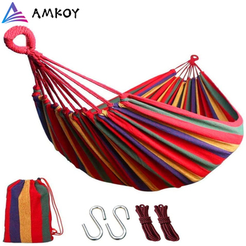 Quality Thicken Canvas Garden Swing Hammock Outdoor Single Two Person Dormitory Camping Hammocks200*100 200*150cm Hanging Chair - discount item  30% OFF Outdoor Furniture