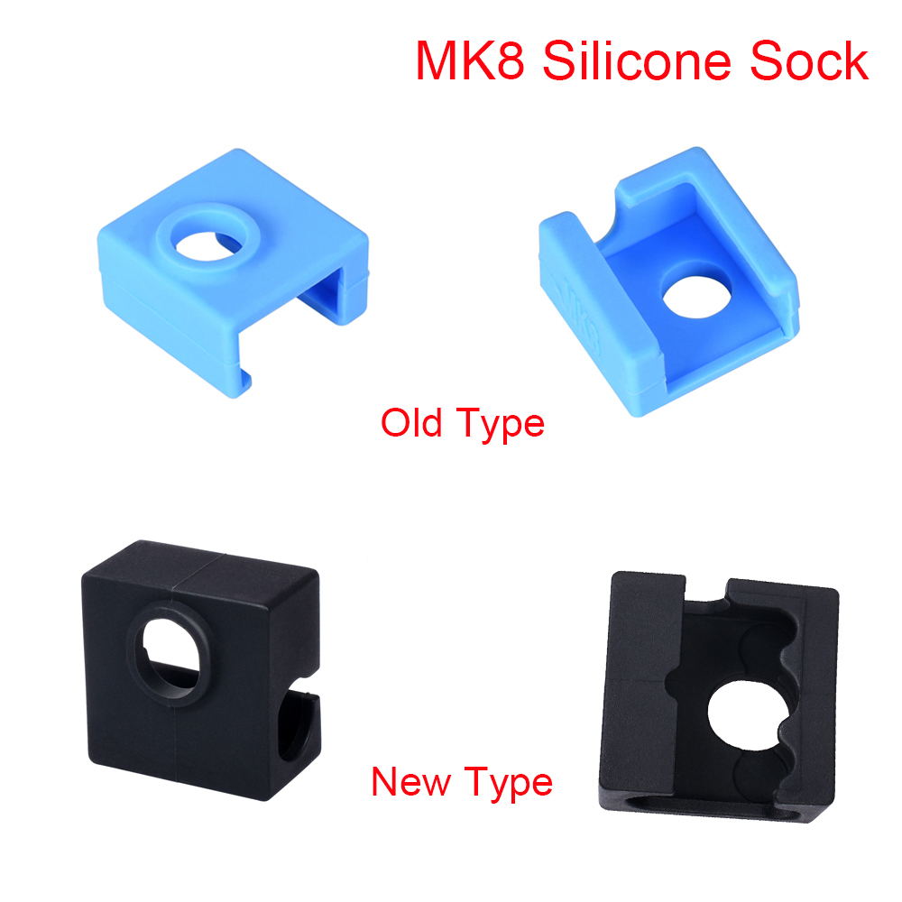 Запчасти для 3D-принтера MK8, Силиконовая Защитная крышка для нагревательных блоков, j-головок, Hotend MK8, экструдер, нагревательный блок сопла MK7/...