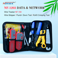 Original Tracer check ray none noise device length tester include Wire tracker Punch Down Tool Plug Crimp Noyafa NF 1203