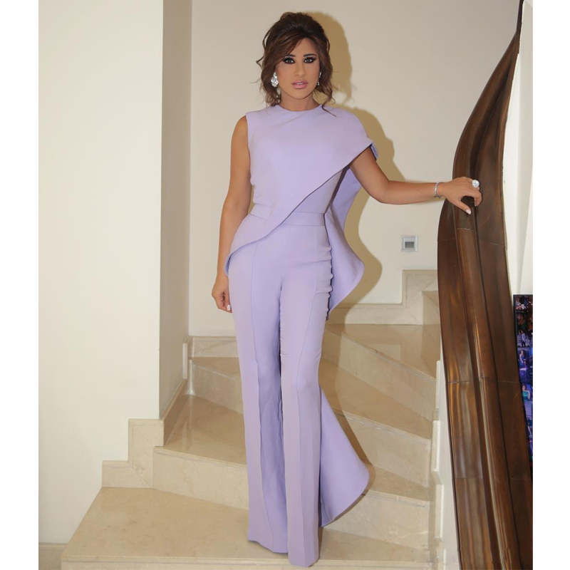 Shawl Slim Jumpsuit Office-Tooling Purple Autumn Star with The Same Paragraph Women's title=