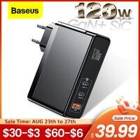 Baseus 120W GaN SiC USB C Ladegerät Schnell Ladung 4,0 3,0 QC Typ C PD Schnelle USB Ladegerät Für macbook Pro iPad iPhone Samsung Xiaomi