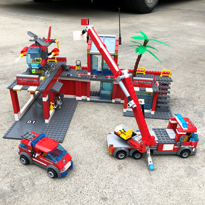 Image 5 - City Fire Station Model Building Blocks Sets Construction Firefighter Truck Educational Bricks Playmobil Toys For Children Gifts