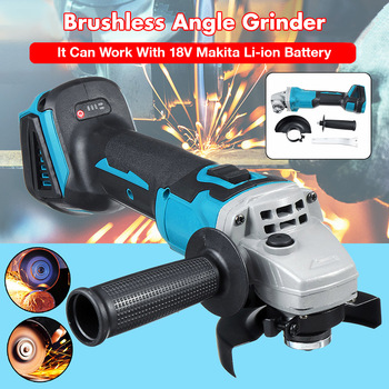 10000rpm 800W 18V Cordless Brushless Angle Grinder Host Electric Grinding Machine Power Tool Without Battery