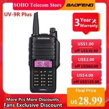 Baofeng UV-9R plus walkie talkie 10w uv 9r mais ip67 à prova dip67 água portátil 128ch dupla banda vox função em dois sentidos caça rádio