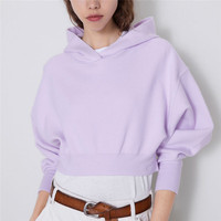 elegant kawaii crop top knitted hooded sweatshirt women fashion short style stretchy solid pullover female 2019 casual basic top