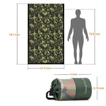 Waterproof Lightweight Thermal Emergency Sleeping Bag Bivy Sack - Survival Blanket Bags Emergency Tent Emergency Kit Supplies 7