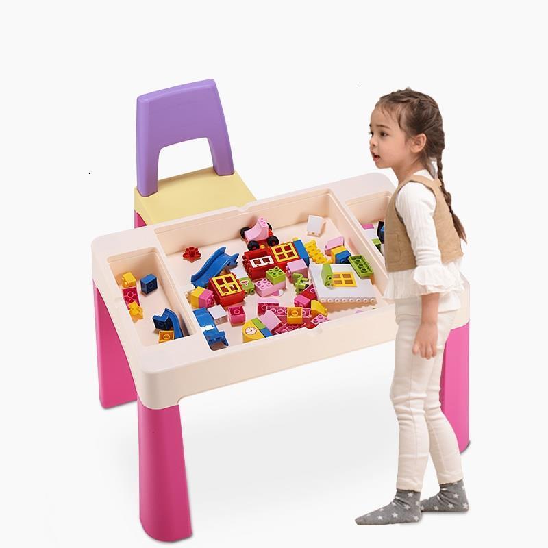 Toddler Play Child Baby Chair And Desk For Plastic Game Kindergarten Kinder Bureau Enfant Study Mesa Infantil Kids Table