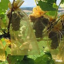 Мешки для питомника, 50 шт., фрукты, растения, защита винограда, садоводство, Сетчатая Сумка на шнурке, домашняя сумка для хранения конфет и же...