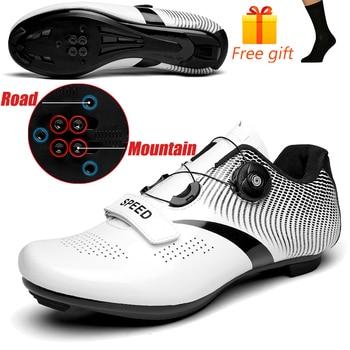 Carbon Fiber Men Cycling Shoe Breathable Triathlon Mountain Bike Shoes Man Sport Road Racing Snaeker Spin Buckle 21