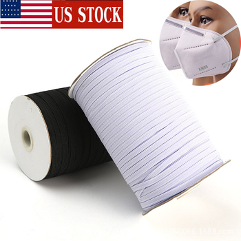 In Stock 200Yards Braided Elastic Band Cord Knit Band Sewing 1/4 1/8 3mm 6mm Ship in 24h 3mm 6mm 100 yards 200 Yards  цена 2017