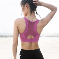 Beauty Back Sports Underwear Women's Large Size Shock resistant Push up Stereotypes Fitness Bra Running Training Yoga Vest