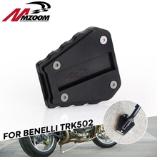 Foot-Side-Stand Benelli TRK502 Motorcycle Support-Plate Aluminium for CNC Extension-Pads