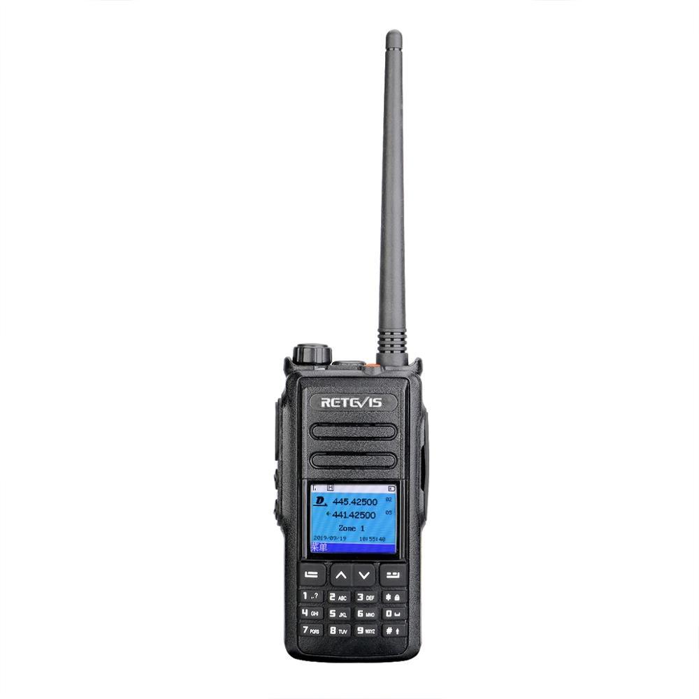 DMR GPS Digital Walkie Talkie 5W Retevis RT72 UHF VHF Dual Band Two Way Radio 4000 CH SMS Digital Radio Handheld Ham Transceiver