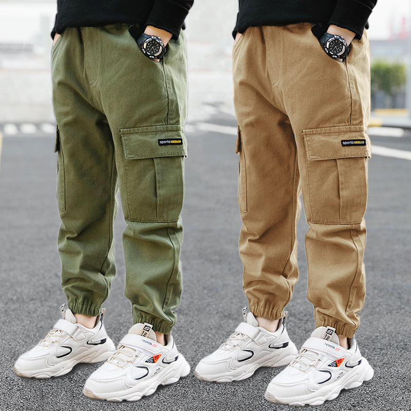 Children Pants Boys Casual Pants Girls Clothing Cotton Baby Long Trousers Kids Boys Clothing Sport Girls Pants Spring 3-14years