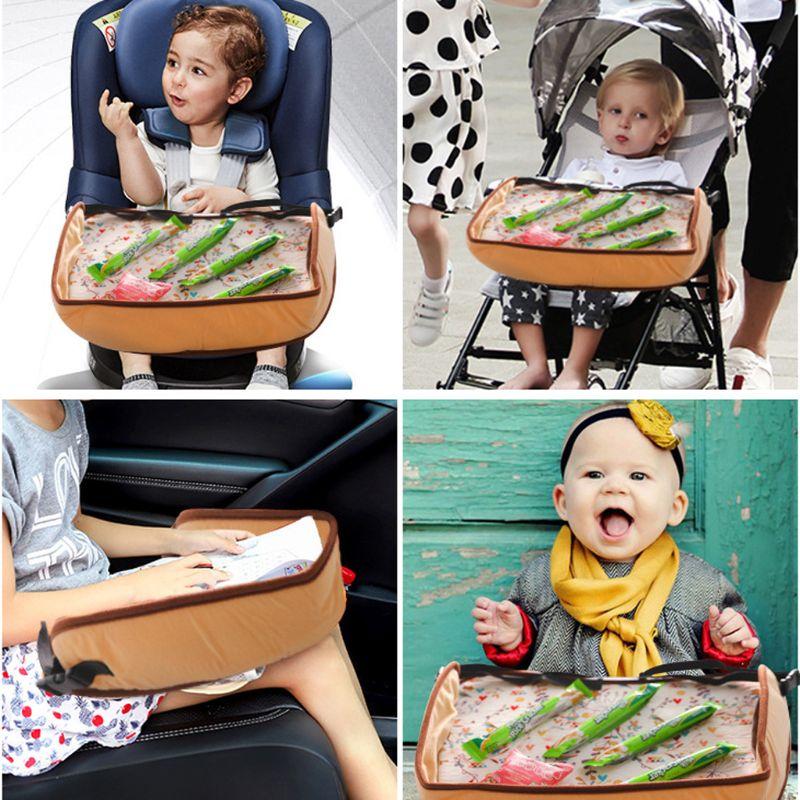 Водонепроницаемый поднос для детского автокресла, коляска, детская игрушка, держатель для еды, стол для детей, портативный столик для автомобиля, детский столик для хранения
