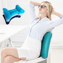 H-type Inflatable Lumbar Pillow Pressing Cushion Portable Office Travel Car Airplane Train Pad