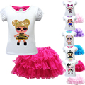 L.O.L. Сюрприз! Комплект одежды для девочек с милыми куклами Lol, рубашки + юбка, детские топы, футболки, юбки, летняя детская одежда для вечеринки