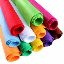 50*40CM large 1Pc Non-woven Felt Fabric Polyester Cloth Felts DIY Kindergarten supplies for Sewing Dolls Crafts accessories(China)