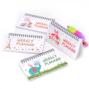 Weekly Planner Notebook Agenda 2020 Cuadernos Y Libretas Cuaderno Note Book Flamingo Paris Notizblock Spiral Week Planner paris notebook