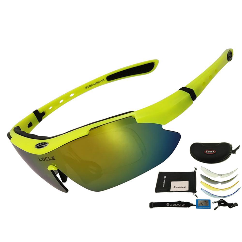 LOCLE occhiali da ciclismo UV400 occhiali da sole da ciclismo polarizzati uomo Road MTB Bike occhiali da bicicletta pesca equitazione occhiali occhiali da ciclismo 1