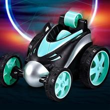 Wireless Remote Control Car Rolling Rotating Tumbling Stunt Dump Truck Toys Electric RC Dancing Vehicle Kids Gifts