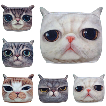1PCS Cotton Dustproof Mouth Face Mask Anime Cartoon 3D Cat Women Men Muffle Face Mouth Masks for Women Men Winter