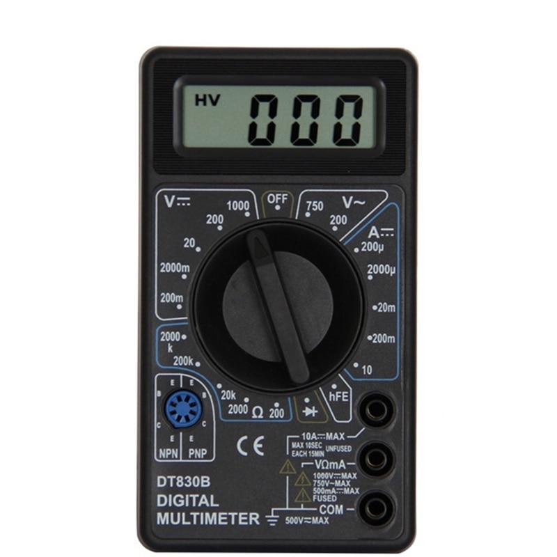 Urijk DT830B AC/DC LCD Digital Multimeter 750/1000V Voltmeter Ammeter Ohm Tester High Safety Handheld Meter Digital Multimeter