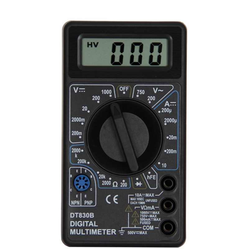 Urijk DT830B AC/DC 液晶デジタルマルチメータ 750/1000 電圧計電流計オームテスター高安全ハンドヘルド測定器デジタルマルチメータ